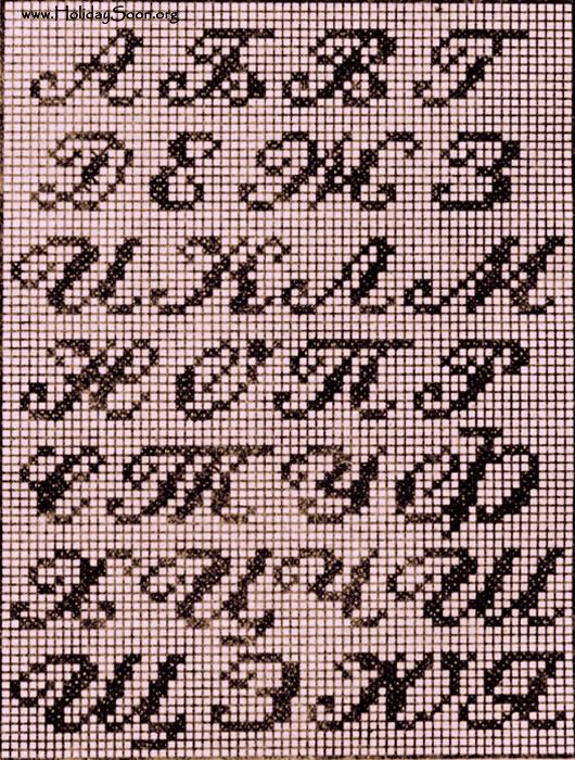 Буквы для вышиыки монограмма