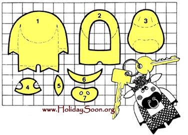 Бык (брелок своими руками) www.HolidaySoon.org.